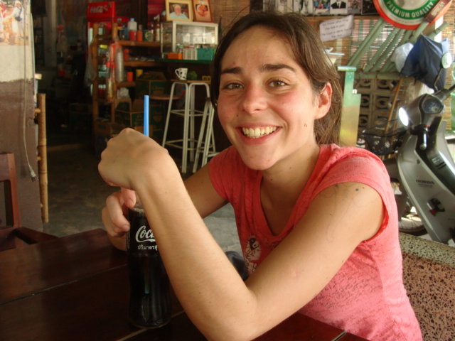 Picture:  Katarina, volunteer from Portugal in Sangkhlaburi, Thailand