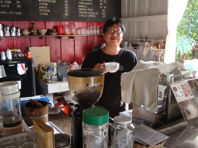 Picture: Tee, owner manager of the Graph Cafe, Sangkhlaburi, Thailand