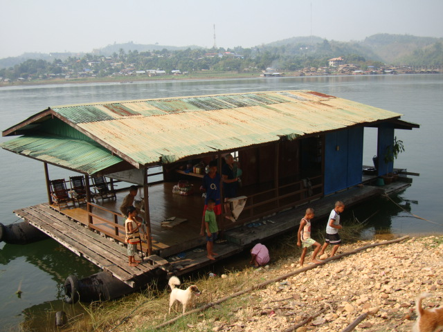 Picture: Party barge, Sangkhlaburi, Thailand.