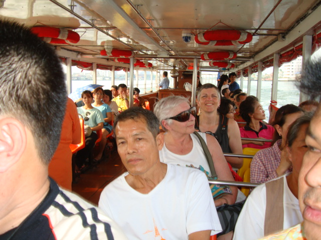 Picture: On board the water taxi in Bangkok, Thailand