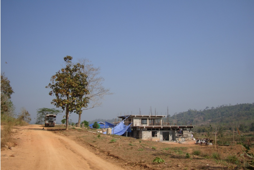 Picture: Naam's new home for her children under construction.  Sangkhlaburi, Thailand