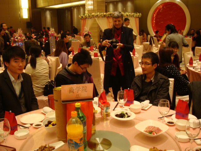 Picture:  Ruth playing wedding photographer.  Wuxi, China