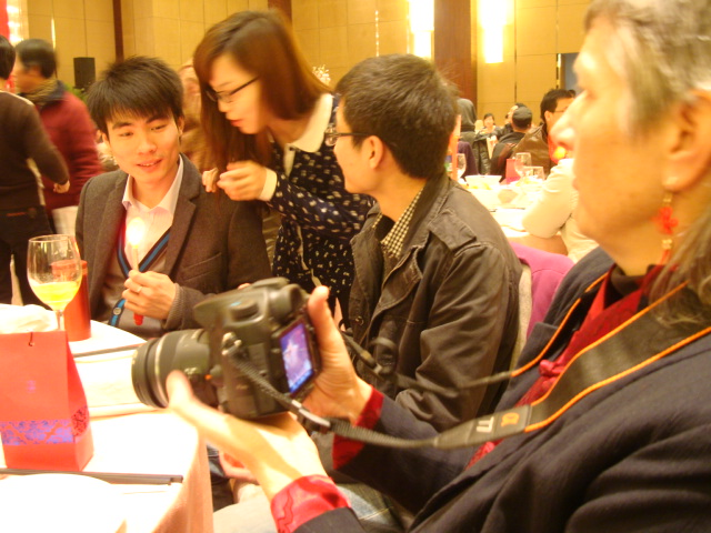 Picture:  Ruth documents the wedding.  Wuxi, China