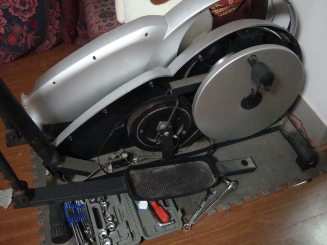 Picture:  She's dead, Jim.  Our elliptical trainer is now non-functional.  Jiangnan University, Wuxi, China