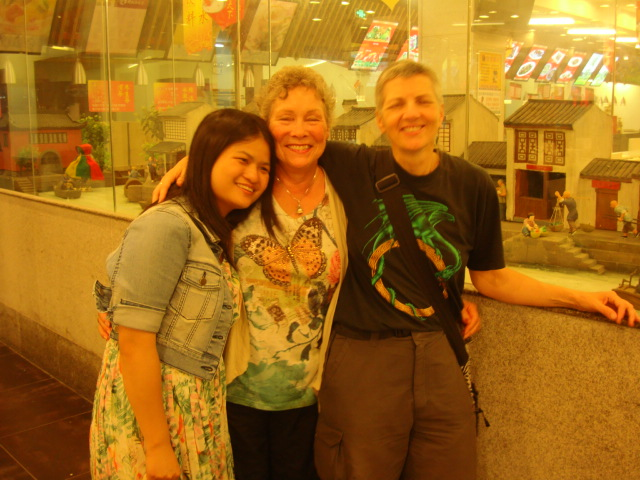 Picture:  Gloria, Catherine, and Ruth in Wuxi, China