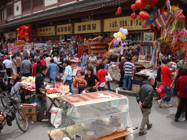 Picture: Where's Catherine, lost in the crowd at a market in  Shanghai, China