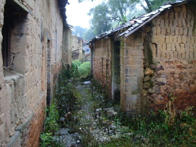 Picture:  the old village behind the new buildings.  Shuibian, Jiangxi, China