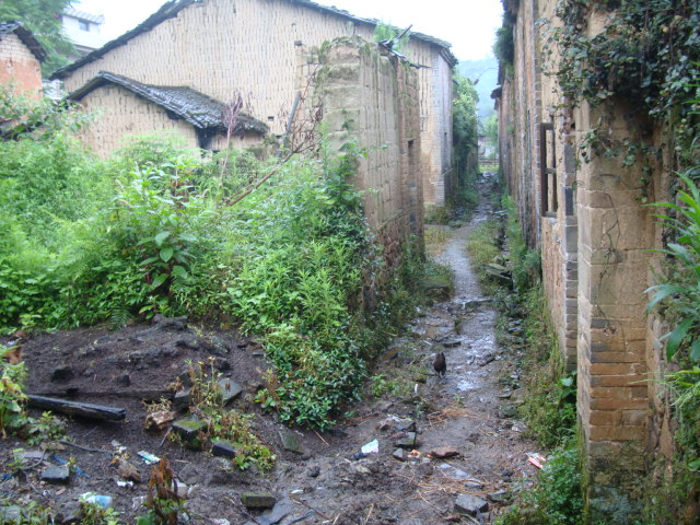 Picture: a back alley in the old village, Shuibian, Jiangxi, China