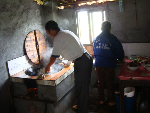 Picture:  The cooking room in Jenny's father's house, Shuibian, Jiangxi, China