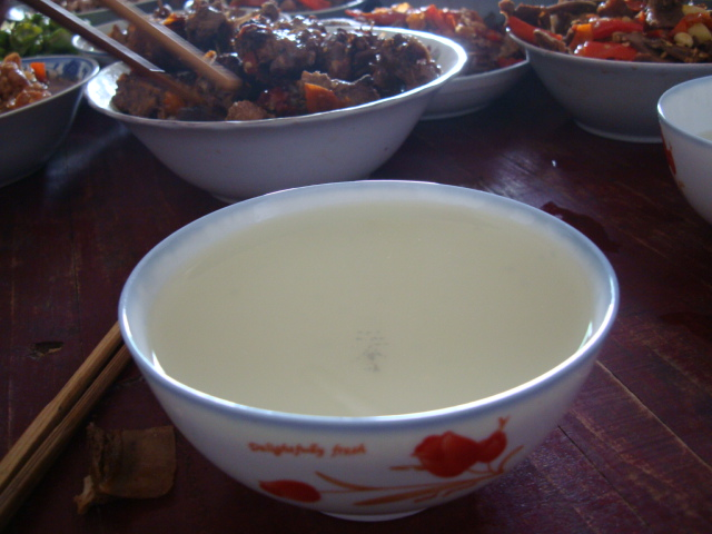 Picture:  Bowl of rice wine.