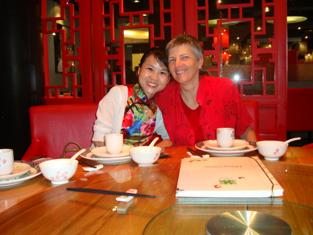 Picture:  Lv Min and Ruth in Zen, Raffles Plaza, Shanghai