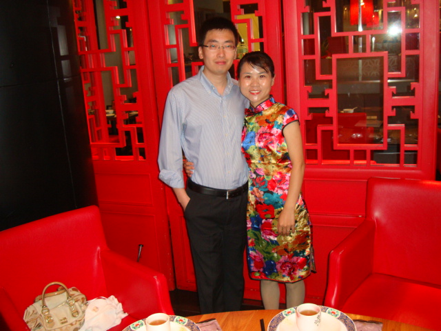 Picture:  Lv min and Simon in Zen, Raffles Plaza, Shanghai
