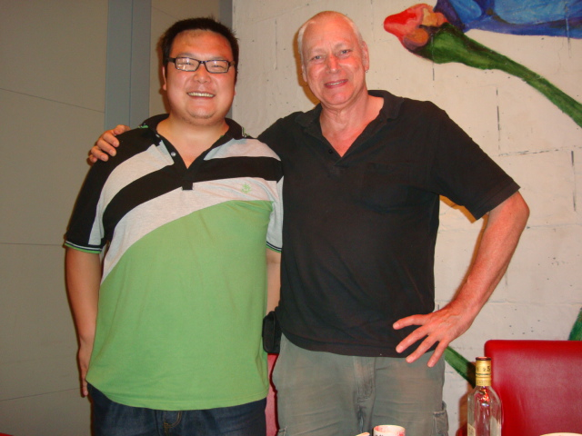 Picture:  David with Armstrong, Zen Restaurant, Raffle's Plaza, Shanghai