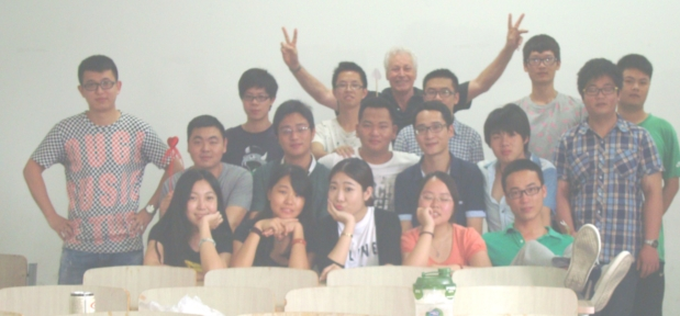 Picture:  My final class with 10BA1.  Jiangnan University, Wuxi, China