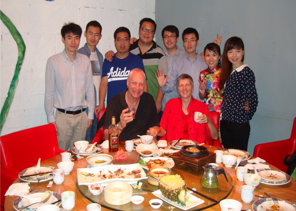 Picture:  David and Ruth and friends, Zen Restaurant, Raffle's Plaza, Shanghai