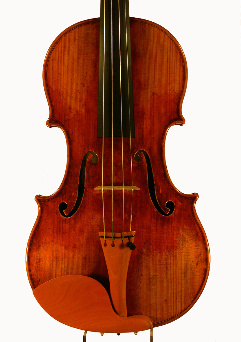 Picture:  My poor damaged Tadioli violin.