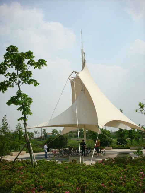 The Straining Membrane Rest Area,  Chang Guang Xi National Urban Wetland Park, Wuxi,  China
