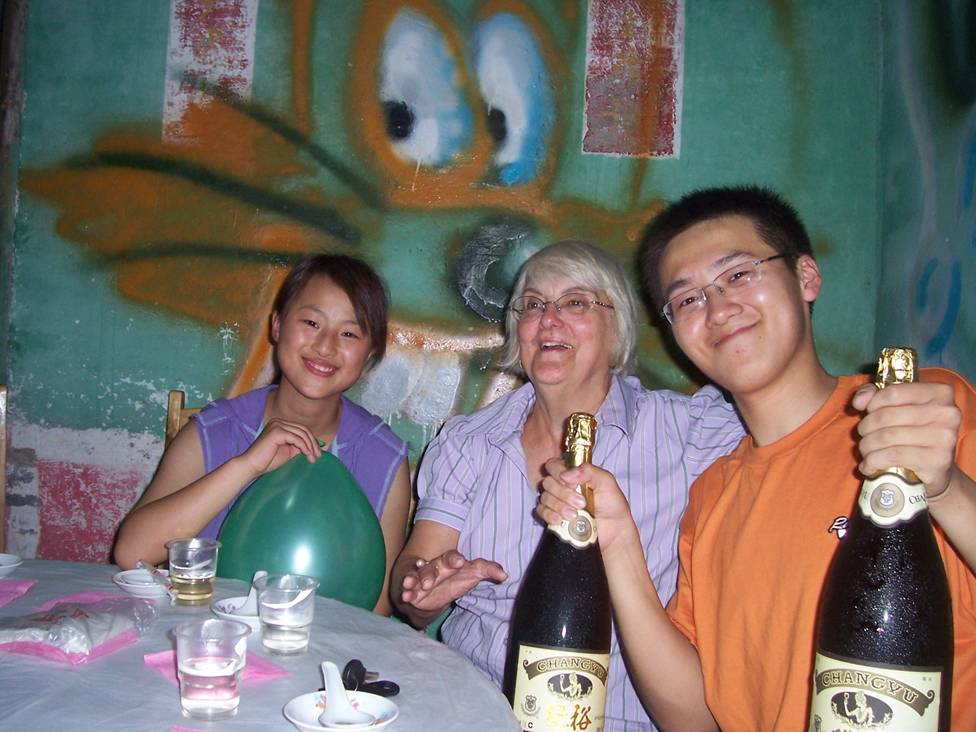 Party at Number 9 Restaurant with visitors from Canada,  Wuxi,  China